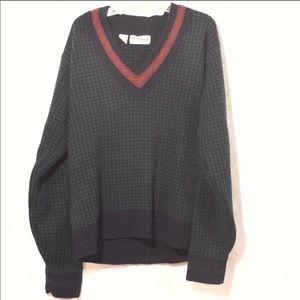 JOS. A Bank Medium Sweater Lambswool Houndstooth